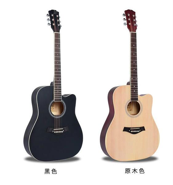 free shipping Single board guitar 41 inch matte missing spruce Nanyang Mumin acoustic guitar low pitch piano bag