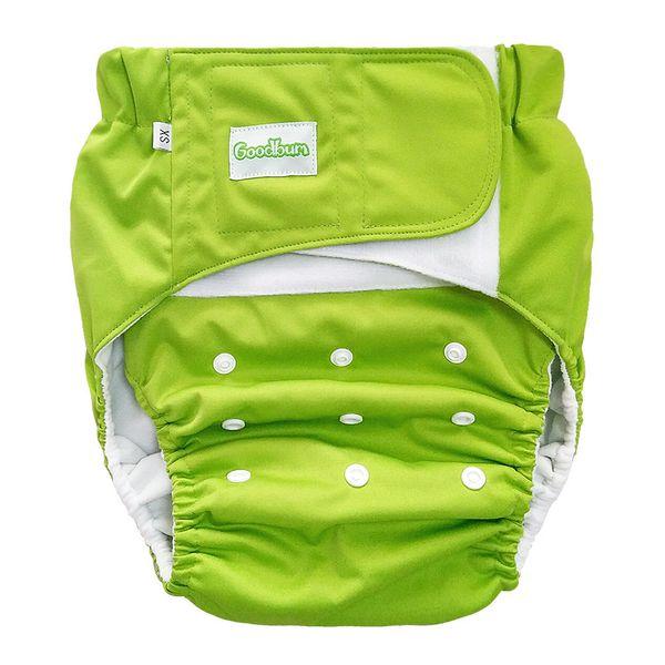Yeşil | Yetişkin Bez Çocuk Bezi Kullanımlık Yaşlı Yıkanabilir Bezi Nefes Kaçırma Pantolon Saf Renk Ayarlanabilir Bezi