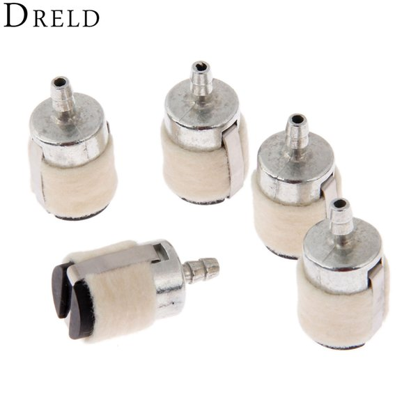 Tools Tool DRELD 5Pcs/lot Chain saw Brush Cutter Earth Auger Water Pump Parts Cotton Wool Fuel Filter Garden Tool Parts