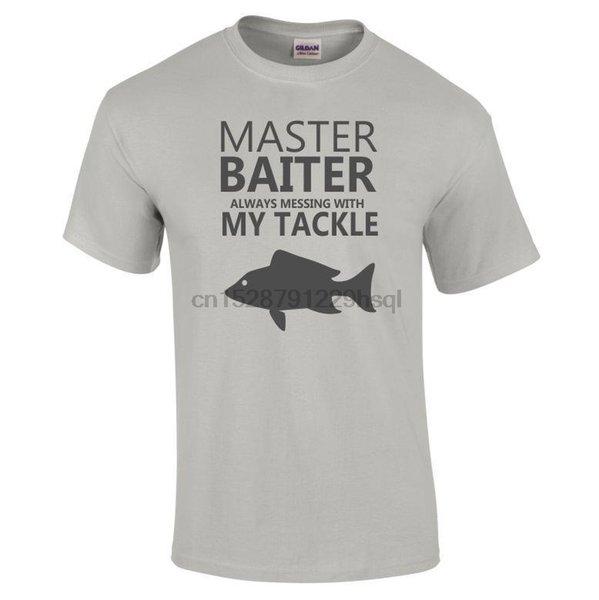 2019 New Men Fisher Humorous Master Baiter T-shirt Sizes S To 5XL Black Grey White Natural Tee Shirt