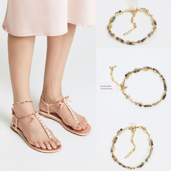 Barefoot Sandals Anklets For Women Halhal Ayak Zinciri Anklet Foot Jewelry Beach Wedding Bridesmaid Gift Handcrafted Dainty