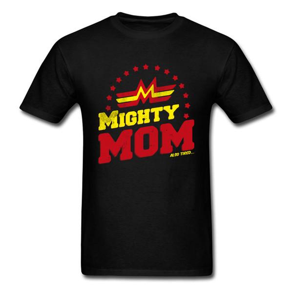 Mighty Mom Dad T-shirt Men Woman Clothing Couple Matching Tops Tees O Neck Cotton T Shirts Hip Hop Birthday Gift Tshirt