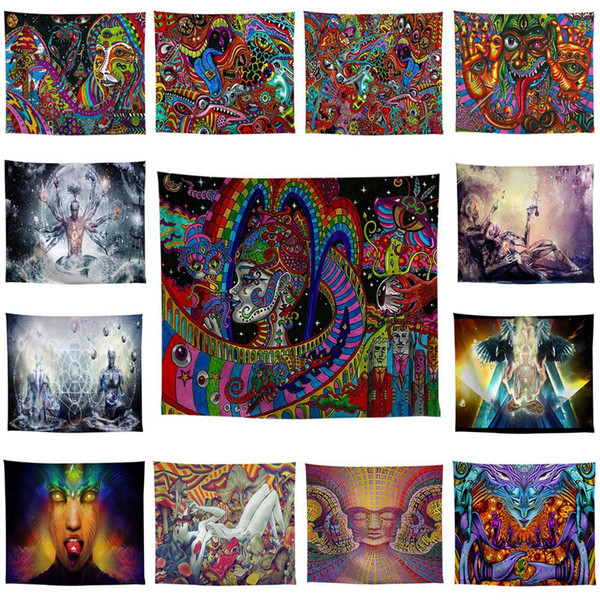 Painting Tapestry Psychedelic Colorful Wall Hanging Tapestries Religion National Features Dorm Wall Art Yoga Mat