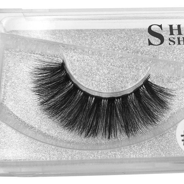 #32 3d Mink Hair False Eyelashes 1 Pairs Handmade Soft Terrier Eyelashes[Silver Card] 11.2×5.2×1.5cm 33g Length 1.6cm Black Extra Long