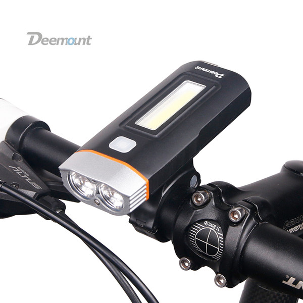 New Dual Two Lights Bicycle Headlight Bike Led Lamp T6 Cree U2 Cob Front Light 650lumens 18650 Battery Rechargeable