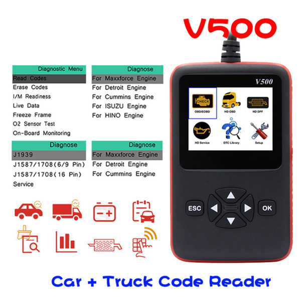 V500 CR-HD Device Heavy Duty Truck and Car Code Reader Scanner