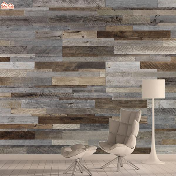 3d Фото обои Mural Обои для гостиной Обои бумажной Papers Home Decor кожуры и пряник Wood Pattern Фон Фрески