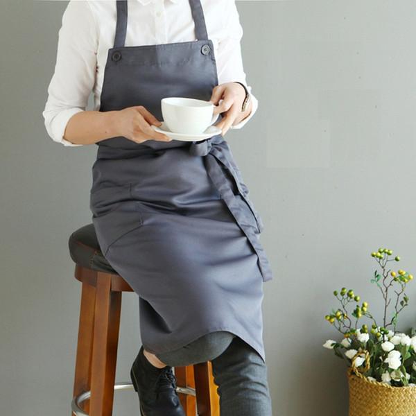 Nórdico vento poliéster algodão avental à prova d'água Cafeterias e floristas trabalham aventais de limpeza para a mulher lavar daidle bib