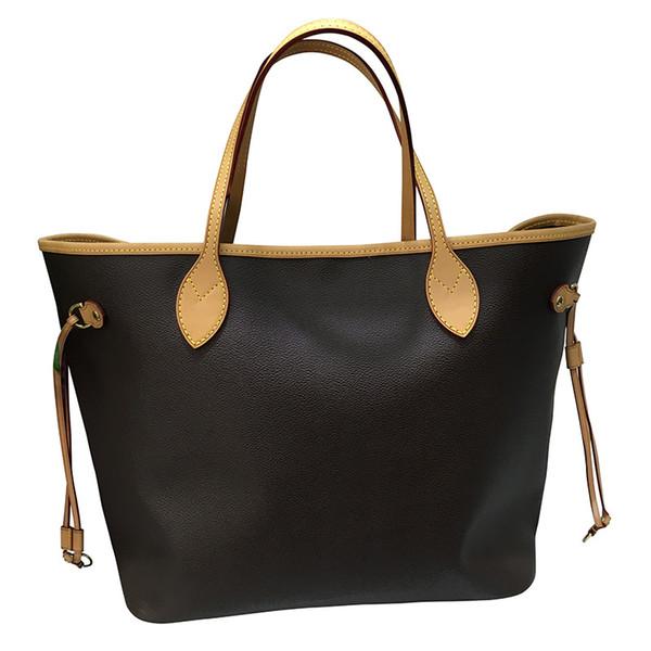 Newest Women Big Shopper Bags Genuine Leather Handbags Women Business Laptop Bag 40996 With Cluth Burse