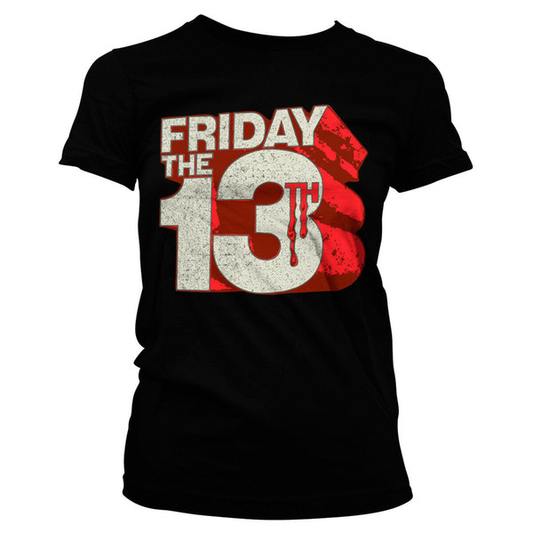Official Licensed Friday The 13th Block Logo Ladies Fitted T-Shirt more colors 3Men Women Unisex Fashion tshirt Free Shipping Funny