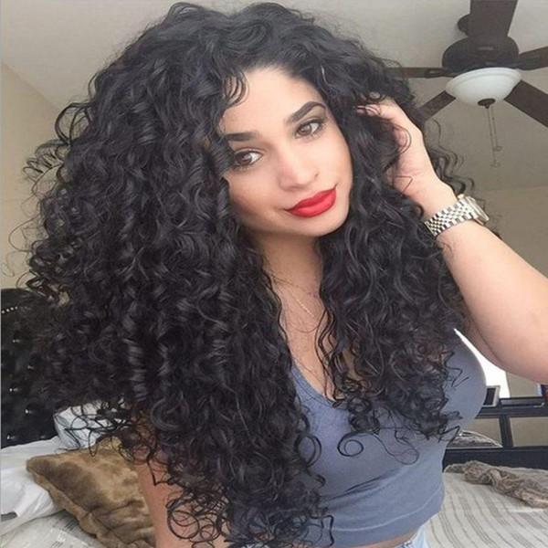 Büyük indirim! 20 Inç Afro Kinky Kıvırcık Uzun Peruk Cosplay Peruk Kıvırcık Sentetik Saç Kadınlar için 3 renk Isıya Dayanıklı Peruk Doğal Gerçek Saç Olarak