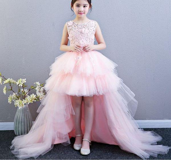 Princess Skirt Girl Pengpeng Wedding Dress Female Model Walking Show Tail EveningD209