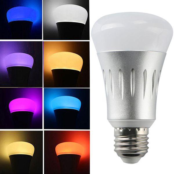 E27 B22 llevó bombillas RGB luces WiFi inalámbrico APP Control remoto LED Bombilla inteligente Lámpara de luz Iluminación para Echo Alexa para Google Home