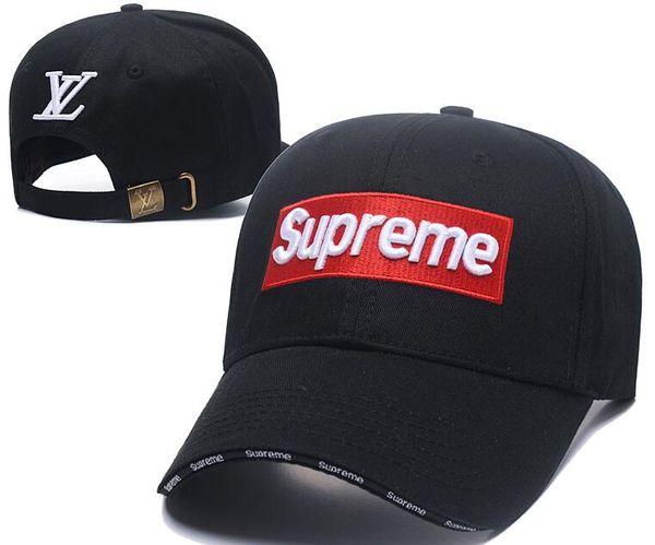 Beyzbol şapkası% 100% Pamuk Lüks tasarımcı kapaklar simgesi Nakış erkekler için şapka 6 panel Siyah snapback şapka erkekler rahat vizör gorras kemik casquette