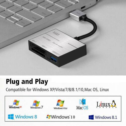 USB 3.0 Compact Flash Çoklu Hafıza Kartı Okuyucu için TF SD CF MS Kart 5Gbps