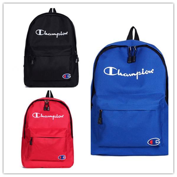 Nylon Champions Lettere da ricamo Zaino per studenti Borsa da scuola per studenti Studenti Donna Borse per lo sport Borse per laptop per studenti C3144