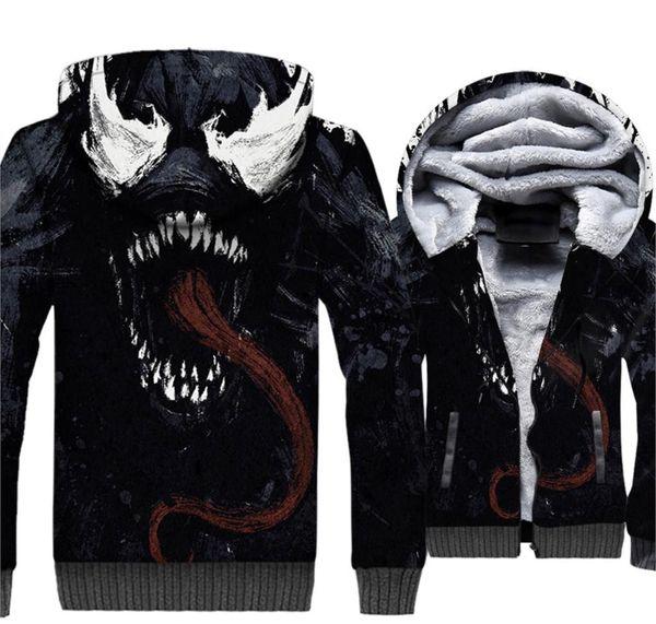 Mode-Männer Hoodies Venom Jacket 2019 Hot Spring Thick Zipper Men s Jacken Hip Hop Anzug Harajuku Sport Mäntel Hoody