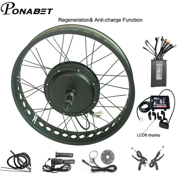 "Fast shipping Black 48V 1500W 20//24//26/"" Fat Bike Rear Wheel Ebike Conversion Kit"
