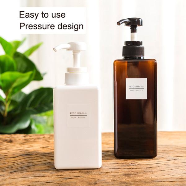 Dispensador de jabón de viaje portátil Gel de ducha Champú Contenedor Loción Líquido 100ML 150 ML Botella de jabón de manos