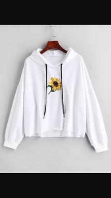 New Fashion Harajuku Sweatshirt Hoodies Women Streetwear Sunflower Kpop Hoodie Korean Style Womens Clothing Moletom Free Shipping
