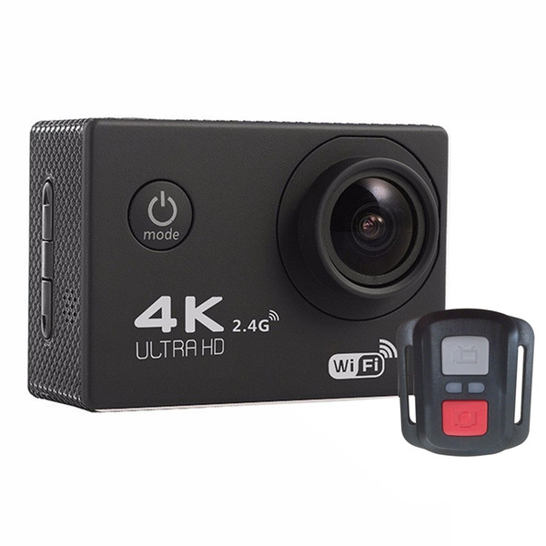 top popular 2020-New F60R 2.0 inch Screen 4K 170 Degrees Wide Angle WiFi Sport Action Camera Camcorder with Waterproof Housing Case Remote Controller 2020