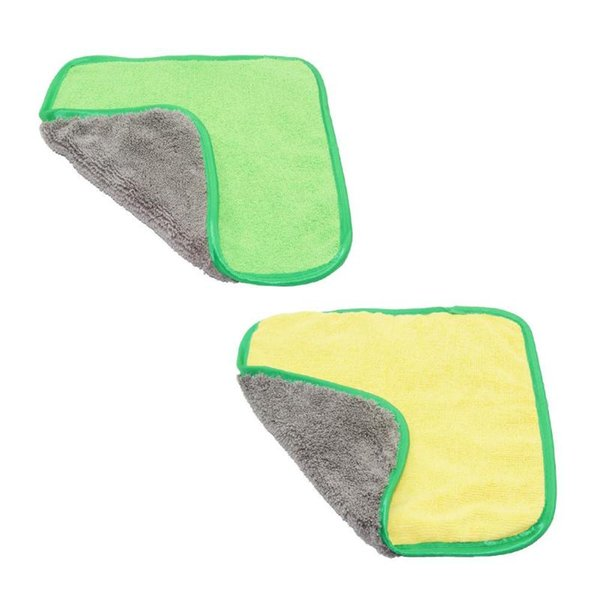 Мойка автомобилей детализация полотенце из микрофибры чистки автомобиля внимательности просушки ткани Хемминг желтый чистка уход за тканью 30х30см