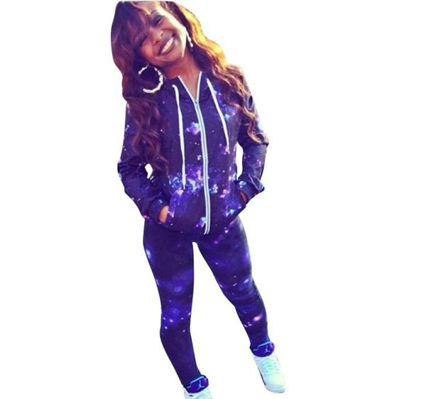 womens designer sportswear long sleeve jacket pants tracksuit hoodie legging 2 piece set outfits bodycon sports set hot
