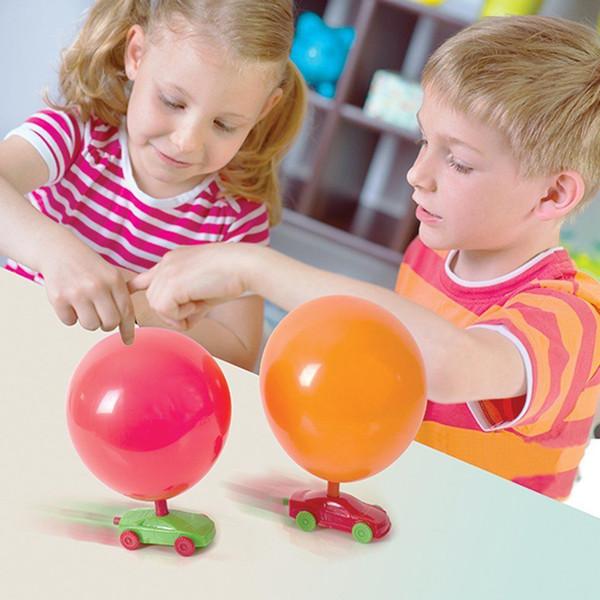 DIY Balon Racer Çocuk Manuel Balon Araba Mini Pnömatik Model Bebek Eğitici Hediyeler Öğretim Yardımcıları Çocuklar Öğrenme STEM Oyuncaklar