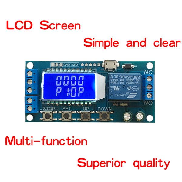 LIZAO Micro USB Digital LCD Display Time Delay Relay Module DC 6-30V Control Multifunction Switch Trigger Cycle Module