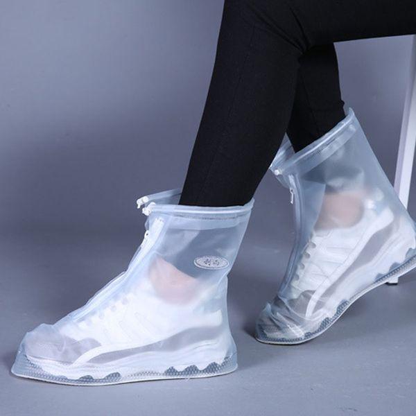 Unisex Adulto Crianças Zipper Chuva Sapato Cobre Ao Ar Livre À Prova D 'Água Protetor de Sapatos Bota Tampa Alta-Top Anti-Slip Casos de Sapatos de Chuva DH0887 T03