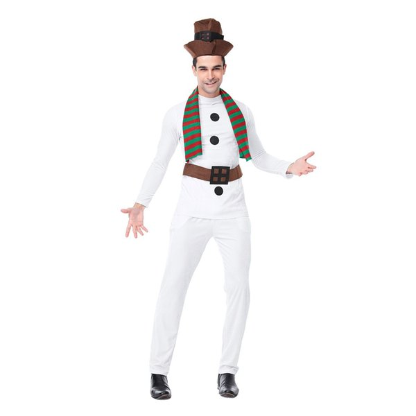 2019 Men Christmas Costume Cosplay Ball Party Xmas Suit Fashion Men White  Christmas Costume 2019 Ropa De Hombreg12 From Blueberry07, $76.58