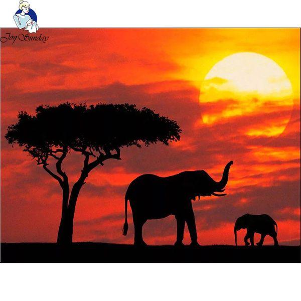 JoySunday 5D слон Животные Изображение Diy Алмазные Картина Вышивка крестом Вышивка Алмазная Алмазная Мозаика Главная ремесло украшения