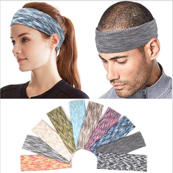 10 colors Absorbent Sport Sweat Headband Sweatband For Men Women Yoga Hair Bands Head Sweat Bands Sports Safety