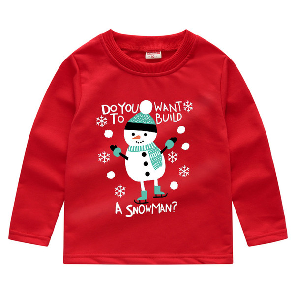 Toddler Baby Boys Girls Christmas Snowman clothes kids christmas sweatshirts Pullover Tops T-shirt Costume Outfit