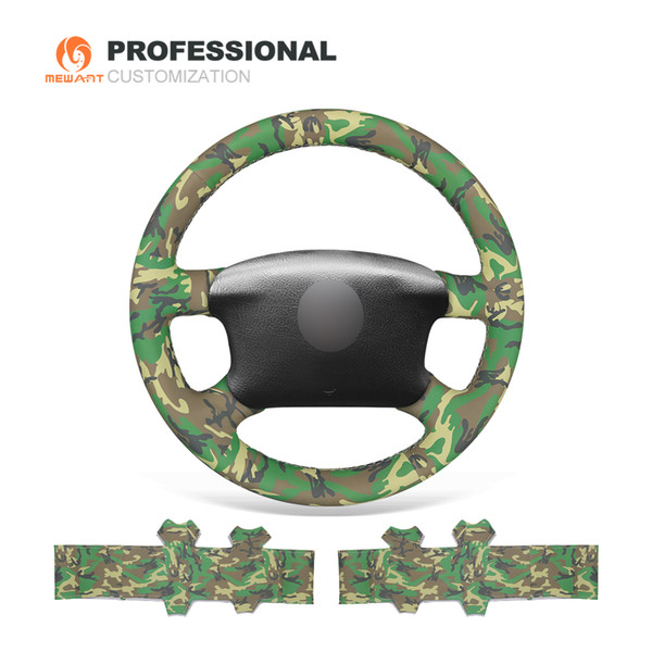 MEWANT Camouflage Artificial Leather Car Steering Wheel Cover for Volkswagen VW Passat B5 1996-2005 Golf 4 1998-2004 Seat Alhambra