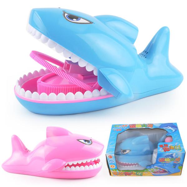 Kreative Automatische Shark Bubble Machine Spielzeug Kühle Musikalische Beleuchtung Niedlichen Cartoon Shark Bubble Gun Für Kinder Im Freien Strand Spielzeug Geschenk