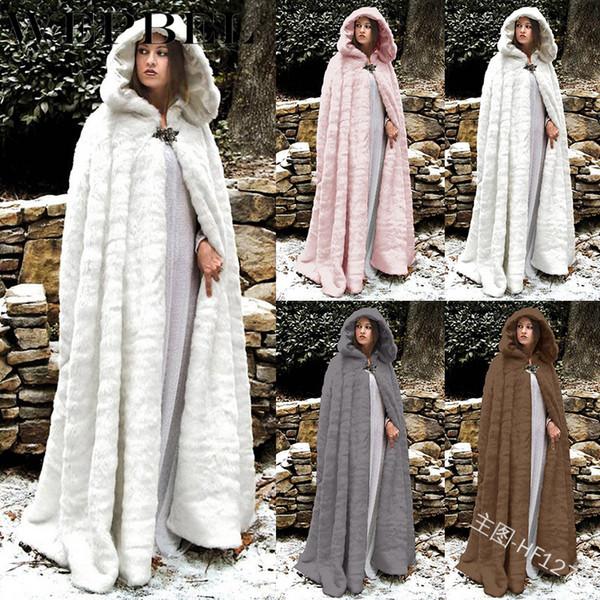 WEPBEL Mujeres Mezclas de lana Outwear Piel artificial Invierno Otoño Casual Con capucha Moda Color sólido Cálido Dama Outwears