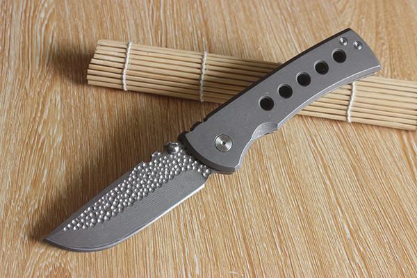 Cuchillos de alta calidad de Chaves Cuchillos Redencion de encargo Cuchillo plegable de Damasco Cuchara de chorro de titanio Mango táctico de supervivencia Cuchillo que acampa