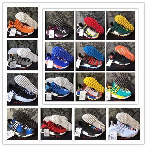 Gute Qualität Original PW Human Race Sport-laufende Schuhe für Mode Pharrell Williams Solar-33 Farben-Mann-Turnschuhe der Frauen Größe 36-45