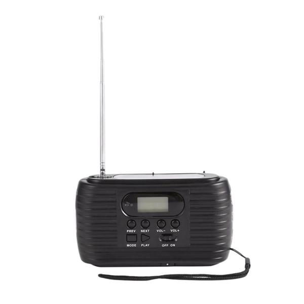 Solarbetriebenes Notradio mit Handkurbelung Am / Fm-Radio und Musik-Player mit 3 LEDs