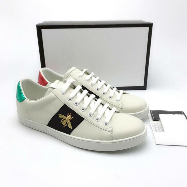 Ace Shoes Designer Shoes strawberry leather Casual Sneakers embroidery bee,flowers tigers fruit dragon Men and Women Sneakers Z37