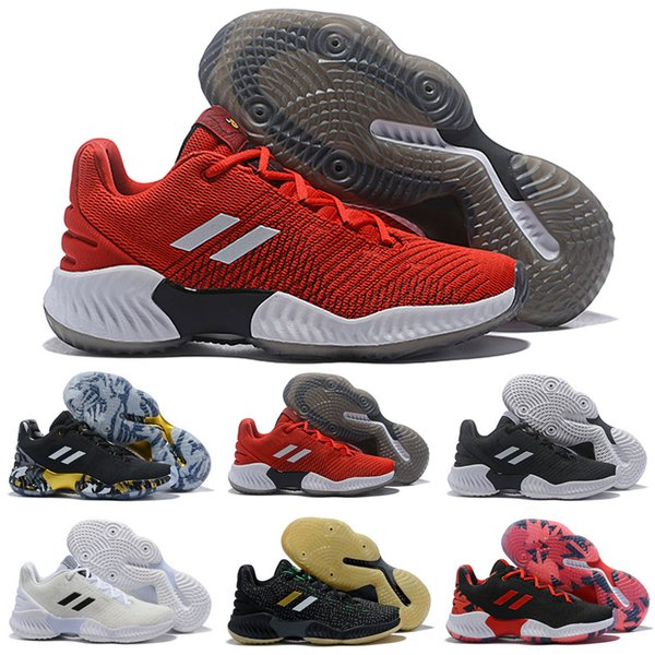 2019 New Arrival Pro Bounce Low Joel Embiid Mens Kids Basketball Shoes for Good quality Black Blue Red Brand Sports Sneakers Trainers