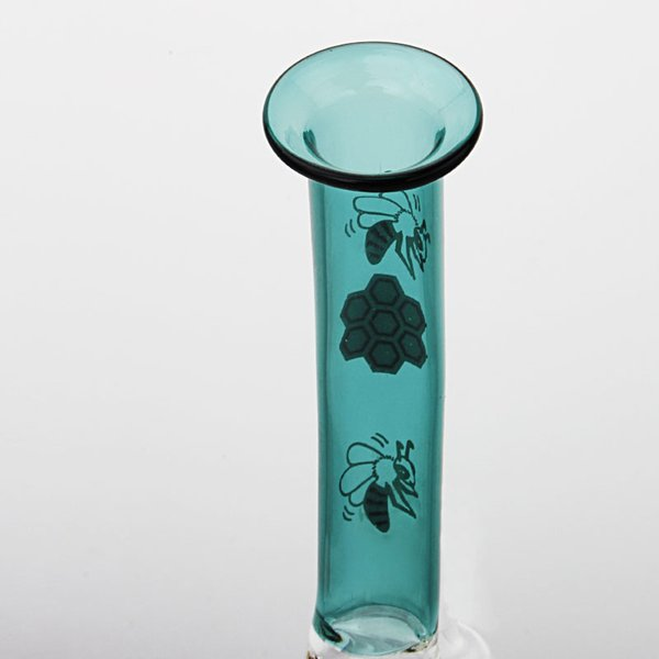 Good quality bee style mini portable glass bong,cheap price Newest glass bong,oil rig bongs with fast free shipping AS8