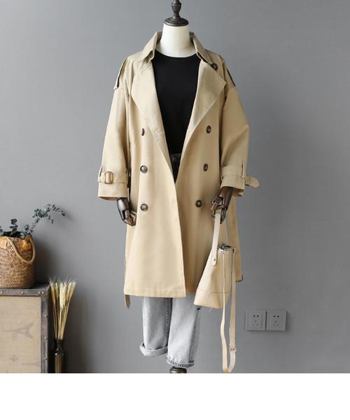 2019 весна новая женщина длинное пальто плюс размер свободные свободного покроя женщина пальто Manteau Femme Hiver Vintage ветровка