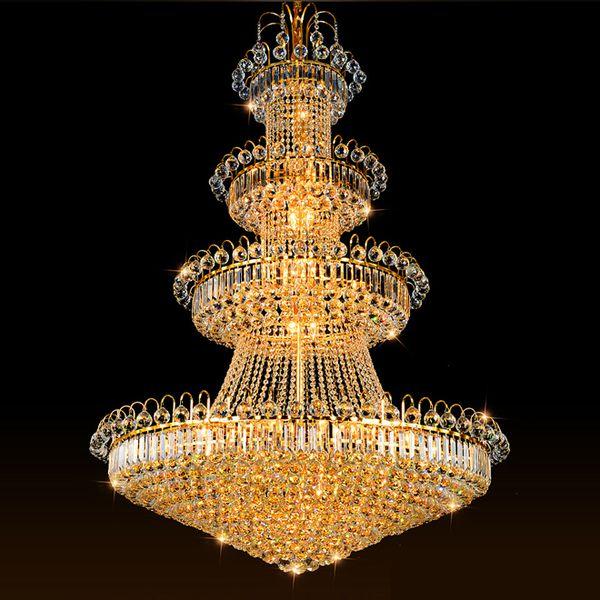 Lámparas Araña De Led De Largas Europeos Lámparas De Colgantes Lujo Villa Compre Cristal Cristal Luz Candelabros Cristal Pasillo Hotel Del Escalera De TlFKJ1c3
