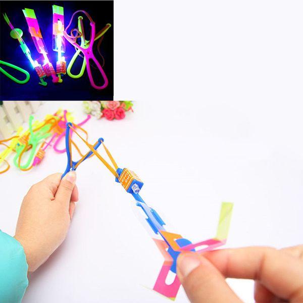 5x The new blue light-emitting large slingshot flash Arrows flying fairy flying mushrooms parachute toys