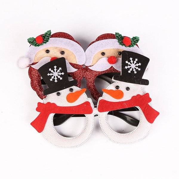 Merry Christmas Sunglasses Snowman Santa Claus Xmas Glasses Eyewear Mask Costume Cosplay Party Supply Novelty Gift
