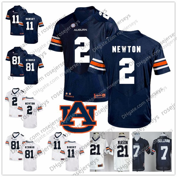 hot sale online ee4c0 af446 2019 2019 NCAA Tigers Navy Blue White Retired Jersey #2 Newton 21 Kerryon  Johnson 34 Bo Jackson 81 CJ Uzomah 81 Darius Slayton Cam From Rosejerseys,  ...
