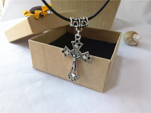cecmic cross pendant necklaces for women and men antique jewelry making supplies with cheap price China