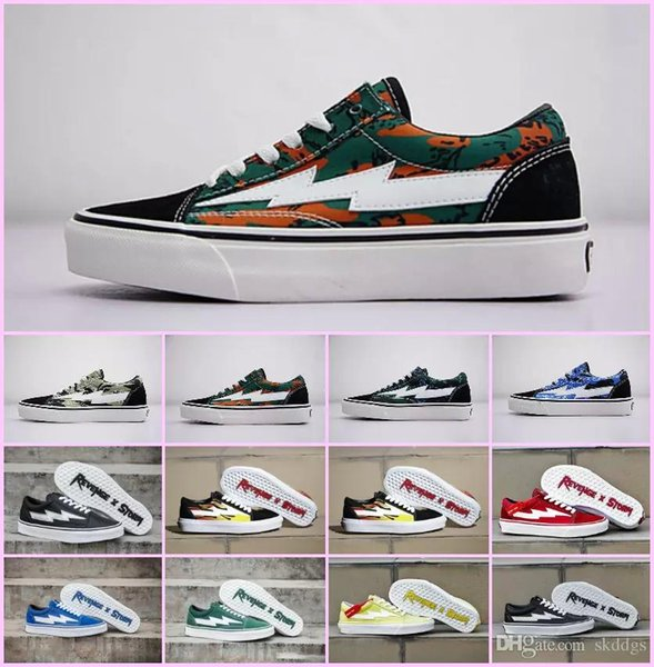 Wholesale 2018 NEW Revenge x Storm Sneakers Pop up Store Top Quality Old SKool Off Fashion Grid Mens Skateboard Vulcanized Ins Canvas Shoes